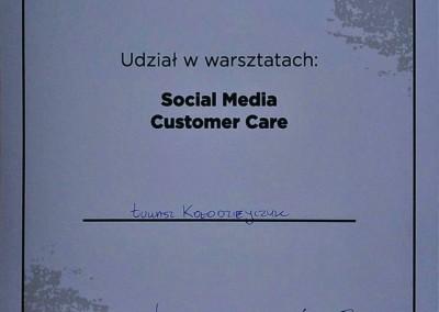 Social Media Customer Care – warsztaty - certyfikat