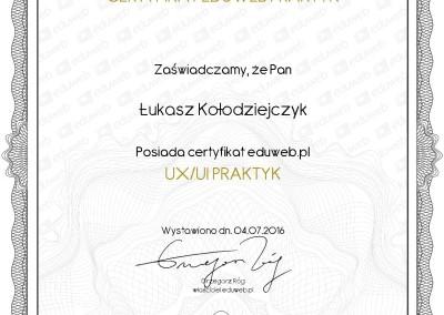 Certyfikat UX/UI Praktyk