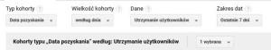 """Konfiguracja raportu """"Analizy kohortowej"""" w Google Analytics"""