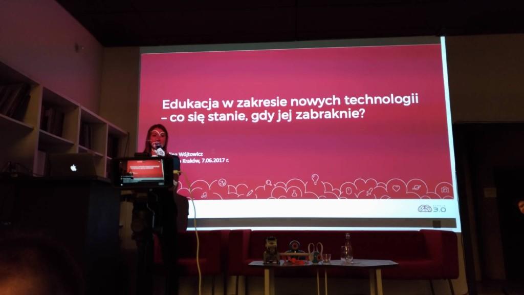 Paulina Wójtowicz na TechKlub Kraków